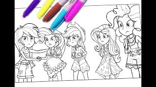 Mlp Equestria Girls Colouring Pages My Little Pony Coloring For Kids Mlpeg
