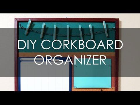 DIY CORK BOARD ORGANIZER - MUSKA JAHAN