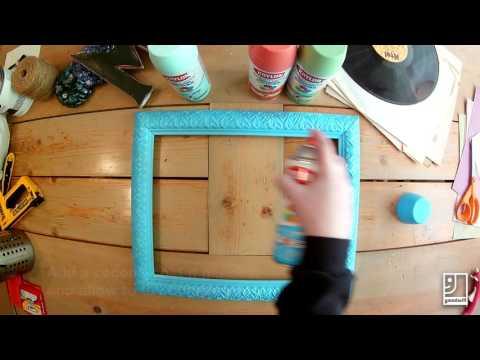 DIY upcycled framed corkboard