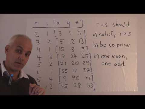 Pythagorean triples | WildTrig: Intro to Rational Trigonometry | N J Wildberger