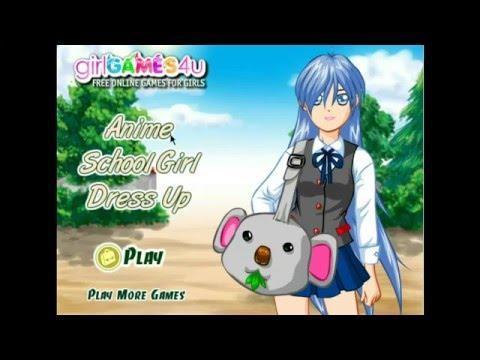 Anime School Girl Dress Up