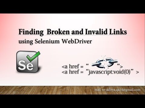 How to find broken links using Selenium Webdriver