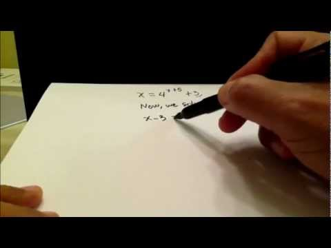 Finding the inverse of Exponential and Logarithmic Functions with two simple examples