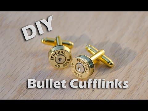 DIY Bullet Cufflinks From Brass Casings #metalproject