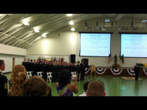 Soldiers Creed - Charlie Rock - 787th MP Battalion 12-11 - July 14, 2011