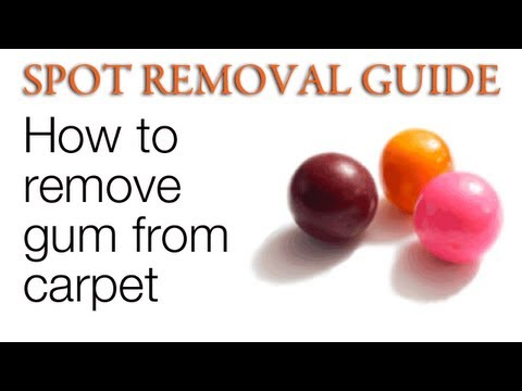 How to Get Gum out of Carpet | Spot Removal Guide