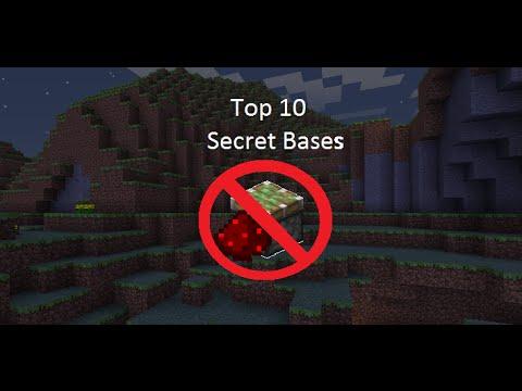 Minecraft top 10 secret bases NO REDSTONE/PISTONS