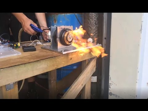 Homemade gas turbine first successful run