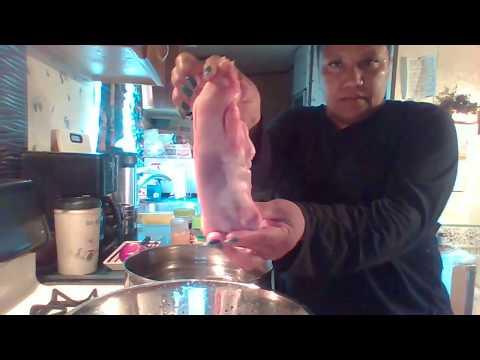 cooking pig feet