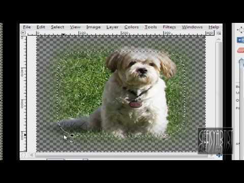 GIMP: Make Feather Borders 2