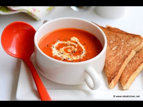 Red capsicum tomato soup - Easy one pot soup