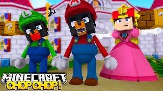 Minecraft CHOP CHOP - SUPER MARIO & PRINCESS GET CHOPPED BY ROPO - Donut the Dog Minecraft