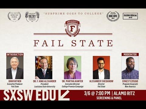 Fail State / SXSW EDU Dan Rather Introduction & Panel