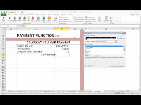 Using Excel's Insert Function Dialog Box