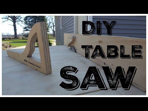 DIY Table Saw Using an Old Circular Saw