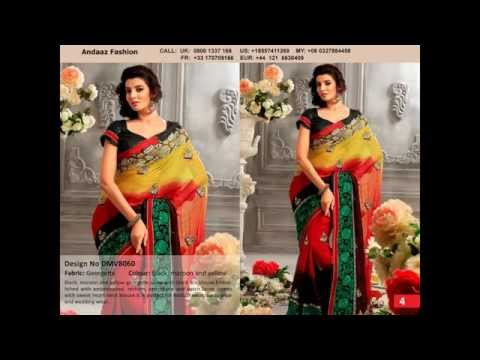 Latest Designer saree online By Andaaz Fashion USA
