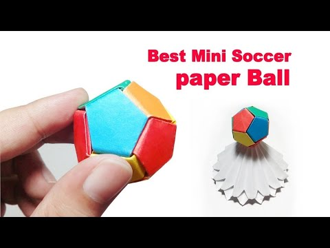 Paper Soccer Ball Mini – How to Make Paper Soccer Ball – DIY Mini Easy Origami Soccer Ball Step by S