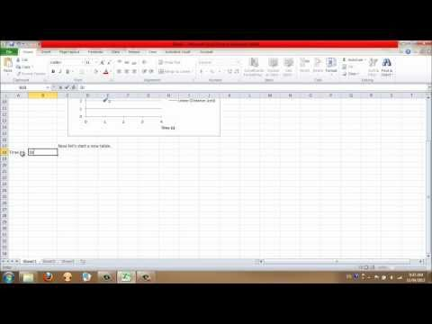 Creating line graphs and equations in Excel 2010
