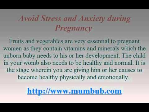 Avoid Stress and Anxiety during Pregnancy