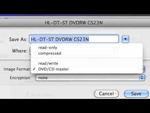 Burning DVD using Disk Utility on Mac