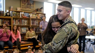 Best Welcome Homecoming Soldier Surprise Home