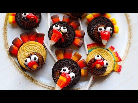 How To Make Thanksgiving Oreo Turkey Pops! Fun Kids Treat Craft!