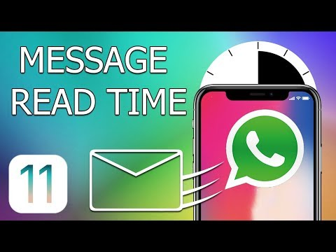 How to check read time for a message in WhatsApp on iPhone with iOS 11