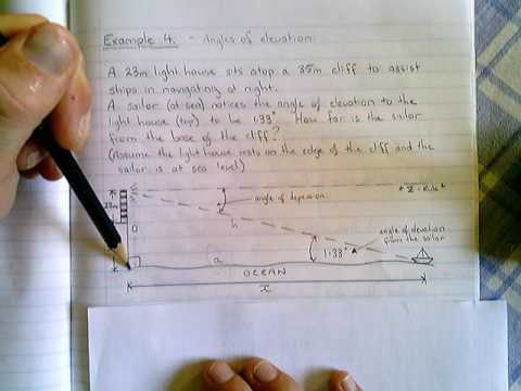 Trigonometry - Angles of Elevation (Example 4)