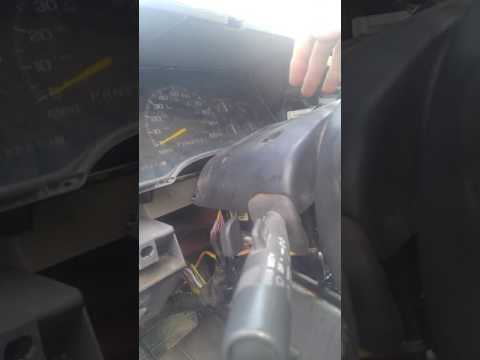 88-98 chevy, gmc steering column cover removal