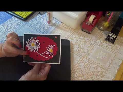 flower die and cards