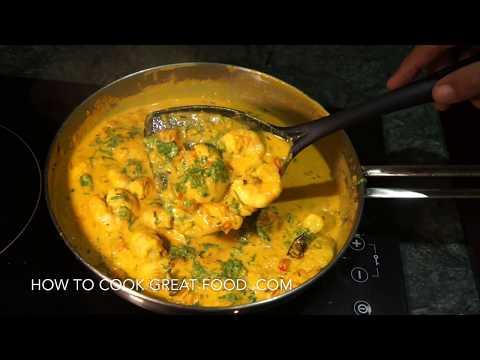 🇮🇳 Prawn Curry - Shrimp Masala Recipe - Coconut milk