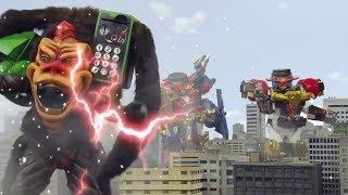 Power Ranger Ninja Steel | Batalla Megazord - Capitulo 16: Asuntos De Mono
