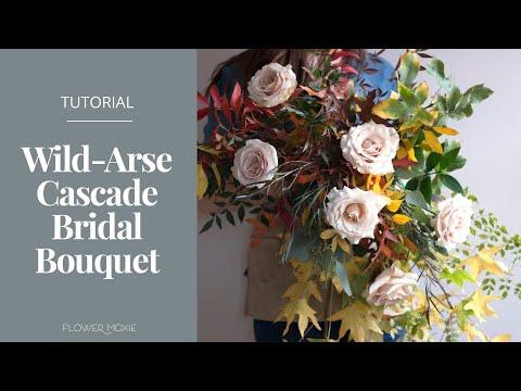 DIY:  Wild-Arse Cascade Bouquet by Flower Moxie   ~SUPER FAST TUTORIAL