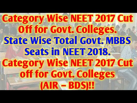 State Wise Govt. Colleges Under NEET,Total SEATS in Govt. Colleges,LAST YEAR CUT OFF!!