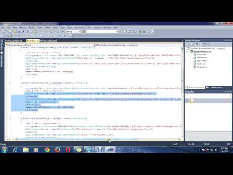How to Get Browser History Using C# Winform? (pp) (Part-2)