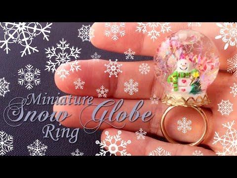 How to make Miniature Snow Globe Jewelry (With Liquid)