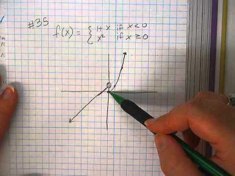 Piecewise functions--finding range