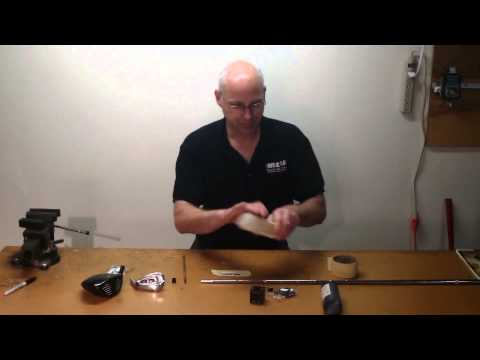 How To Assemble a Custom Golf Club Part 6 -- How To Install Ferrule & Epoxy Golf Shaft On Clubhead