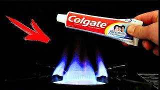EXPERIMENT: FIRE VS TOOTHPASTE