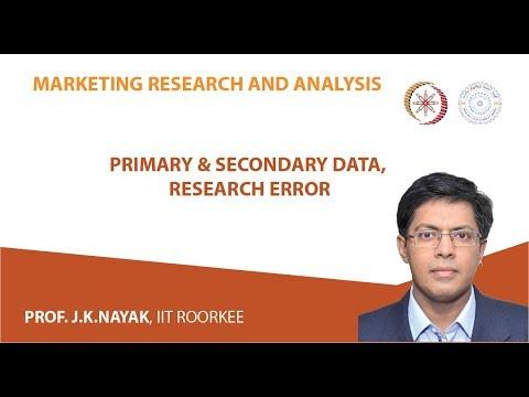 Primary & Secondary Data, Research Error