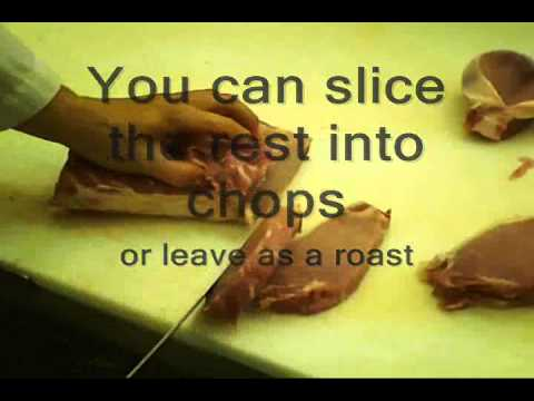How to Cut a boneless pork loin 2