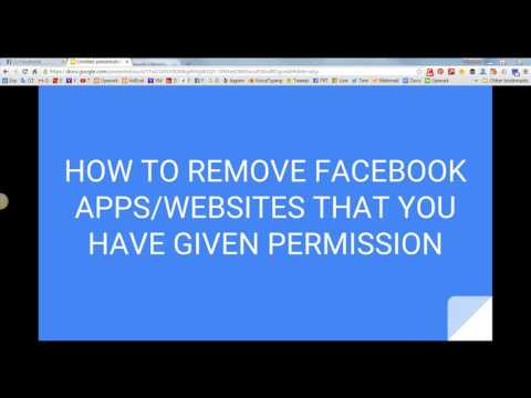 How to Remove Spam and unwanted apps from Facebook