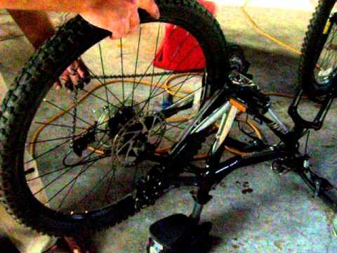 Mountain bike rear tire installation