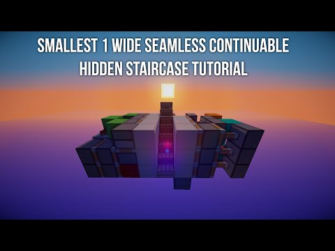 TUTORIAL: 1 Wide Seamless Continuable Hidden Staircase (Smallest)