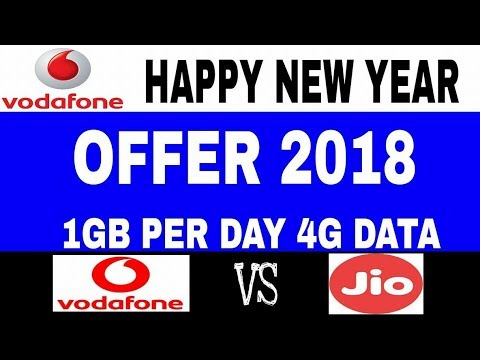 Jio effect : Vodafone 198 Plan with Unlimited Calling and 28GB data | Vodafone Happy New Year Offer