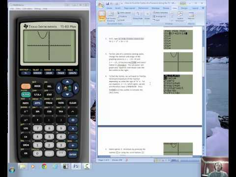 Vertex Form in TI 83 84