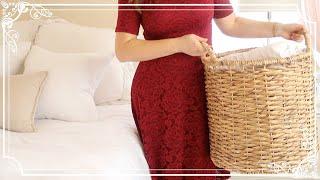 Clean & Fold Laundry With Me | Elegant Homemaking | Master Bedroom & Bathroom