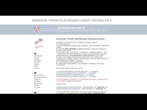 French Keyboard Layout with accents for MAC OS X  - ի համար ֆրանսերեն ստեղնաշար (շեշտանշաններով)