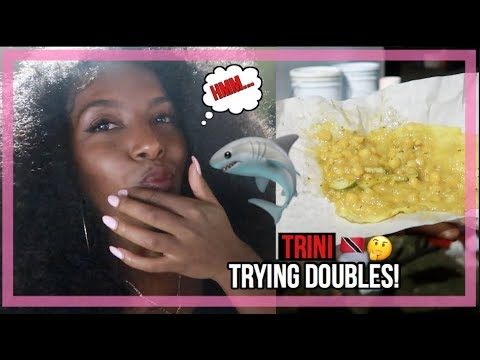 TRYING TRINI DOUBLES FOR THE FIRST TIME & EATING SHARK!?? | TRAVEL VLOG