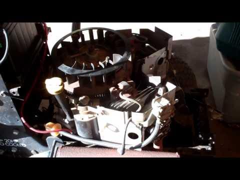 Craftman Lawn Tractor - 'No Start'; adjusting the valves